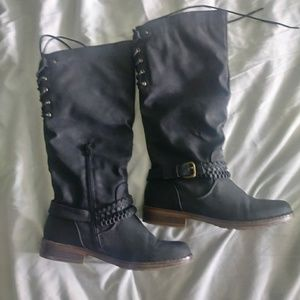 Shoes - Sz 9 Black High Rise Riding Boots
